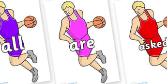 Tricky Words on Basketball Player - Tricky words, DfES Letters and Sounds, Letters and sounds, display, words