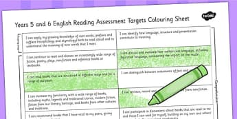 2014 Curriculum UKS2 Years 5 and 6 Reading Assessment Targets