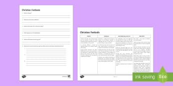 Christian Festivals Differentiated Comprehension Challenge Sheet - Christian Practices GCSE Material, christian, christmas, easter, advent, epiphany, lent, comprehensi