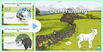 Spring Information PowerPoint - Spring, Frühling, Seasons, German