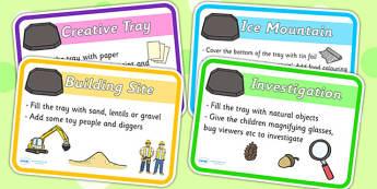 Builders Tray Idea Cards - builders, builders tray, idea cards, cards, word cards, key words, keywords, key word cards, flash cards, word flash cards