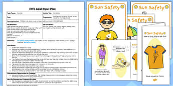 Sun Safety EYFS Adult Input Plan And Resource Pack