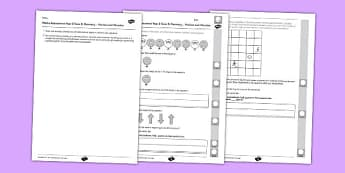 Year 2 Maths Assessment Geometry Position and Direction Term 3 - Maths, Assessment, Geometry, Position, Direction