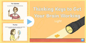 Light Thinking Keys PowerPoint - science, light, thinking keys, thinkers keys, energy and forces, critical thinking, questions, power
