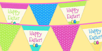 Easter Party Happy Easter Bunting - easter, easter party, bunting