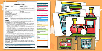 Letter Train EYFS Adult Input Plan Template and Resource Pack