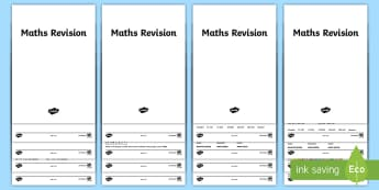 KS2 Maths Revision Resource Pack - reasoning, mastery, arithmetic, mathematics, curriculum, coverage, parents, syllabus