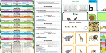 EYFS Bumper Planning Pack to Support Teaching on Dear Zoo - Dear Zoo, Rod Campbell, animals, early years planning, adult led, continuous provision,