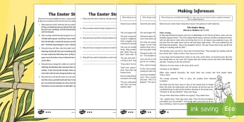 KS2 Easter Story Inference Activity Sheets - UKS2, LKS2, Key Stage Two, Key Stage 2, Easter, Easter Story, Jesus, Last Supper, Jerusalem, donkey,