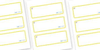 Topaz Themed Editable Drawer-Peg-Name Labels (Blank) - Themed Classroom Label Templates, Resource Labels, Name Labels, Editable Labels, Drawer Labels, Coat Peg Labels, Peg Label, KS1 Labels, Foundation Labels, Foundation Stage Labels, Teaching Labels