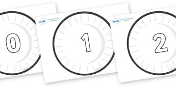 Numbers 0-100 on Circles (Plain) - 0-100, foundation stage numeracy, Number recognition, Number flashcards, counting, number frieze, Display numbers, number posters