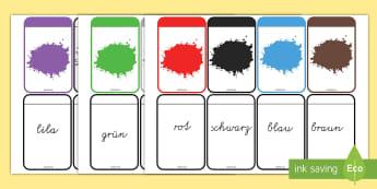 Farben Memory Karten - Farben Wort-und Bilderkarten Memory Spiel, Farben, Farbe, Farbkarten, Farben Karten, Spiel, Bunte Fa