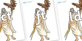 Final Letter Blends on Zeus - Final Letters, final letter, letter blend, letter blends, consonant, consonants, digraph, trigraph, literacy, alphabet, letters, foundation stage literacy