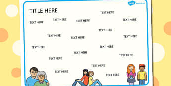 Ourselves Themed Editable Word Mat - literacy, words, writing