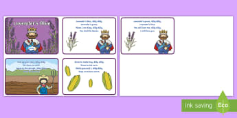 Lavender's Blue Sequencing Cards - World Nursery Rhyme Week, Lavenders Blue, songs and rhymes, nursery rhyme, cards, ordering, rhyme