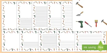 DIY Page Borders - D.I.Y, role play, do it yourself, building, home, home improvement, hammer, saw, nails