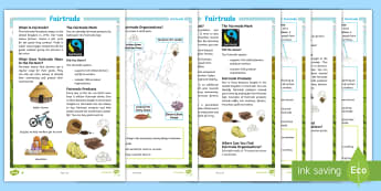 Fairtrade Differentiated Fact File - KS2, comprehension, reading, reading comprehension, reading activity, fairtrade, around the world, g