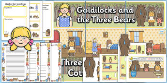 Goldilocks and the Three Bears Role Play Pack - Goldilocks, traditional tales, tale, fairy tale, three bears, porridge, cottage, beds
