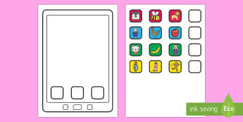 Create An e-Reader Cut Out Activity - e-reader, tablet, technology, ipad, iphone, apps