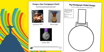 Rio 2016 Paralympics Design a New Medal SEN Activity Sheet, worksheet