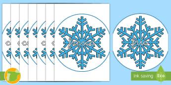 Palabras temáticas en imagen: Invierno - Copos de nieve - nieve, frío, invernal, decoración, exposición, ,Spanish