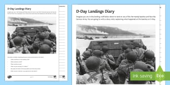D-Day Landing Craft Diary Activity Sheet - second world war, Normandy landings, empathy, operation overlord, wwii, ww2, world war two