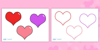 Valentine's Day Editable Heart Template - Valentine's Day, Valentine, love, Saint Valentine, heart, kiss, cupid, gift, roses, card, flowers, date, letter, girlfriend, boyfriend, partner