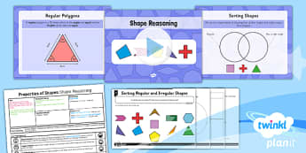 PlanIt Y5 Properties of Shapes Lesson Pack Regular and Irregular Polygons (1) - Properties of Shapes, regular, irregular, 2D shapes, geometric shapes, shape reasoning
