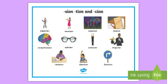 -sion, -tion and -cian Word Mat - -sion -tion or -cian Ending Sort Activity - end, sort, activity, tion, shun
