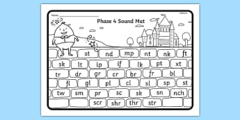 Humpty Dumpty Themed Phase 4 Blends and Clusters Sound Mat - humpty dumpty, phase 4, sound mat