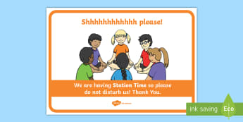 Station Time Classroom Sign Display Poster - Do Not Disturb Circle Time Classroom Sign - do not disturb sign, do not disturb door sign, circle ti