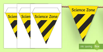 Science Lab Role Play Hazard Warning Bunting -