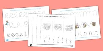 Beatrix Potter - The Tale of Tom Kitten Pencil Control Sheets - beatrix potter, tom kitten