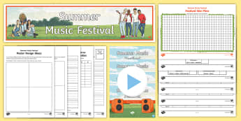 Year 6 Project Pack: Plan a Summer Music Festival Resource Pack - y6, year 6, after sats, project, festival, planning, budget, maths, art, poster, glastonbury, music,