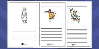 King Midas Writing Frames - king midas, writing frames, write