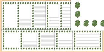 Beech Tree Themed Page Borders - beech tree, themed, page borders, page, borders, beech, tree