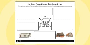 Homes Past and Present Topic Research Map - research map, homes