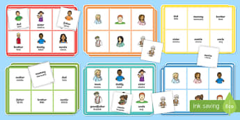 Family Members Bingo English/Polish - Ourselves, All about me, family, Ks1, Y1, Year 1, EYFS, Reception, Growing, growth, EAL,Polish-trans