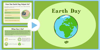 Earth Day PowerPoint - Earth Day, Conservation, US Resources