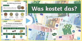 Converting Euros to Pounds PowerPoint - German / Deutsch - Numbers, Counting, German, Euros, Converting Money, Languages, MFL