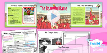 PlanIt - History UKS2 - Leisure and Entertainment Lesson 2: The Beautiful Game Lesson Pack - planit, history