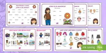 Describiendo a mamá - El día de la madre, mother's day in Spain, descripción, describiendo a mamá,Spanish