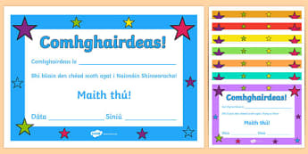 Irish Gaeilge End of Year Certificates