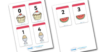 Number Bonds to 5 Matching Cards (Food) - Number Bonds, Matching Cards, Food Cards, Number Bonds to 5