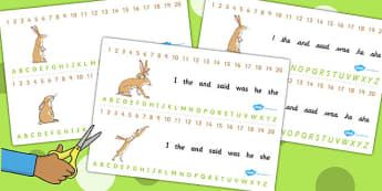 Guess How Much I Love You Combined Number and Alphabet Strips