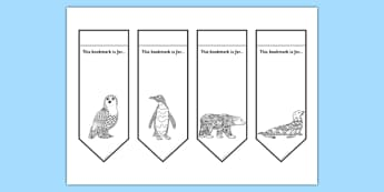 Polar Animals Mindfulness Colouring Bookmarks - mindfulness, colouring, bookmarks, colour, arctic