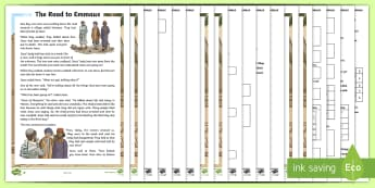 KS2 The Road to Emmaus Differentiated Comprehension Go Respond  Activity Sheets - reading, Bible stories, Christianity, christian, retrieve information, Jesus, IPad