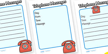 Travel Agents Telephne Message Sheets - Travel agent, holiday, travel, role play, display poster, poster, sign, holidays, agent, booking, plane, flight, hotel