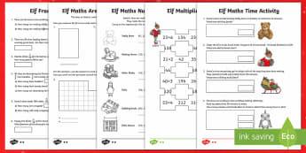 Elf Maths Activity Sheets - LKS2, maths, Christmas, elf, activity sheets, lower key stage two, worksheets.