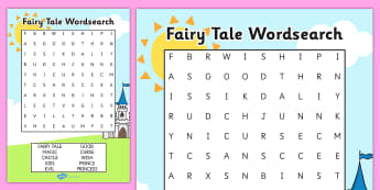 Fairy Tale Word Search - fairy tale, wordsearch, words, activity